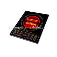 button control single burner infrared halogen cooker
