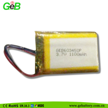 3.7V 1100mAh polymer lithium battery 603450 for Digital Camera