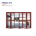 Aluminum folding door German hardware glass folding door handle lock