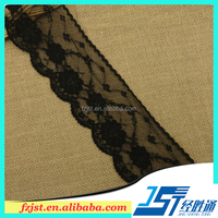High quality black lace trim yard for sexy bra and panty 2016