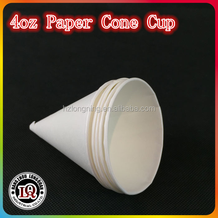 4.5/4oz Disposable Cone Paper ice cream Cup