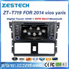 For Toyota Yaris/VIOS 2014 auto parts double din car dvd player gps with DVD/Radio/GPS/Bluetooth/3G/SD/USB/SWC