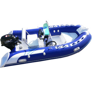 Over 20 years factory Q boat rib boat with outboard engine motor for sale