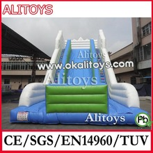 Alitoys Giant Inflatable Double Lane Slip Dry Slides Inflatable Water Park for Sale, Factory Direct OEM Accepted