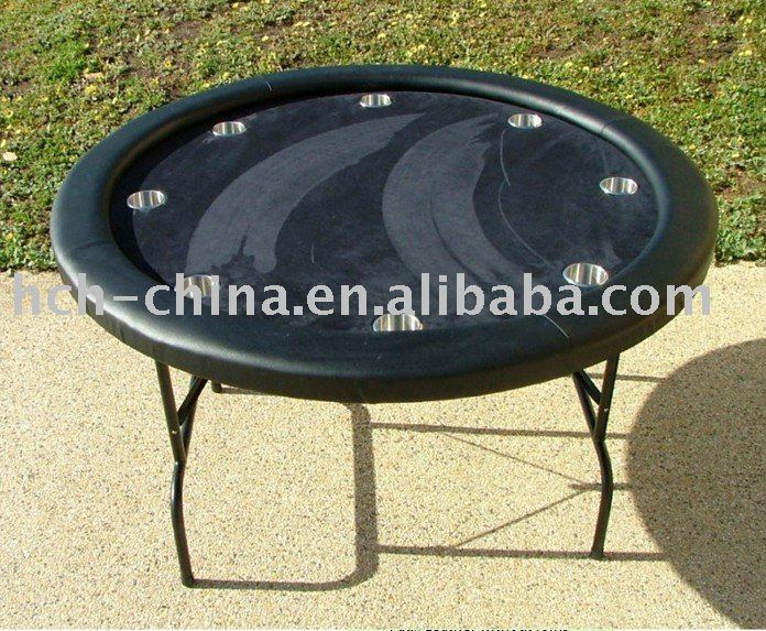52-inch Round Folding Poker Table 8 Person Poker Table