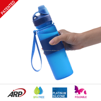 100% Healthy Harmless Soft Bottle BPA Free Bottle Patent Platinum Silicone Travel Bottle
