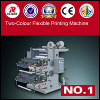 Full auto Plastic two colour printing machine roll in roll,Two Colour Flexible Letter Press,film printing machines
