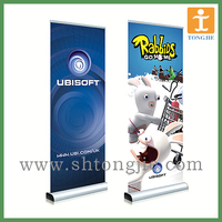 high quality display scrolling roll up banner stand for exhibition equipment