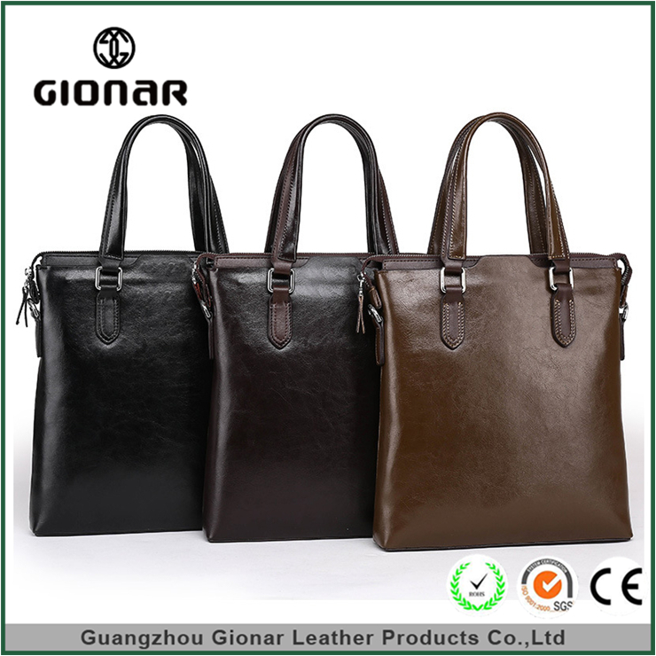 Fashion Pu Leather Business Handbag For Men Cooler Laptop Briefcase