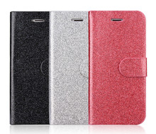 Fast Delivery Glitter Flip Cover Case For Iphone 6 Leather Case
