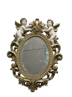 Polyresin Angel jewel wall mirror