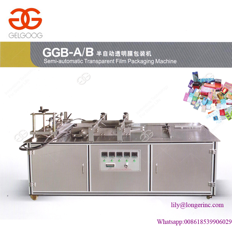 Semi-automatic Perfume Box Small Cellophane Wrapping Machine