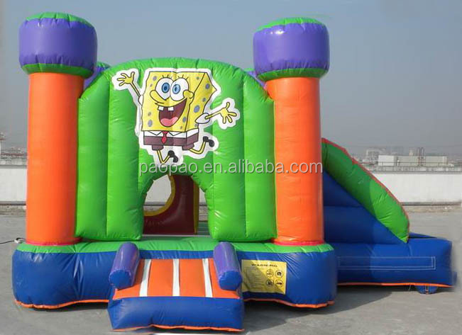With high reputation super spongebob inflatables castle for outdoor use,inflatable jumping bounce slide combo