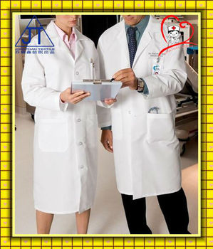 Quality! hospital doctor white uniforms/lab coat/scrubs medical manufacture