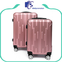Cheap wholesale travlling abs combination lock luggage set wheel suitcase