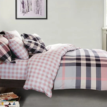 Customized plaid Home Bedding 100% Cotton printed bed comforters quilts
