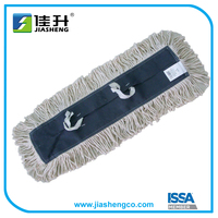 Disposable industrial flat dust mop head