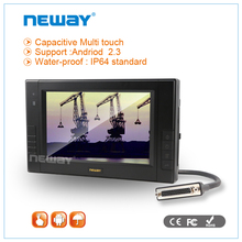 7 inch dustproof RS232 RJ45 Ethernet windows tablet PC