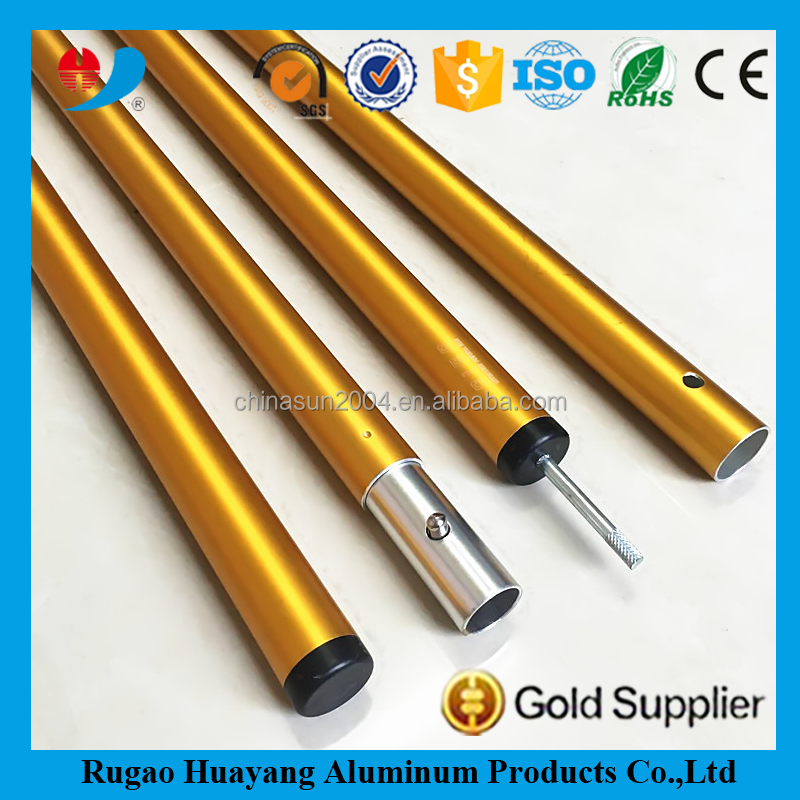 <strong>aluminum</strong> folding golden color tent pole