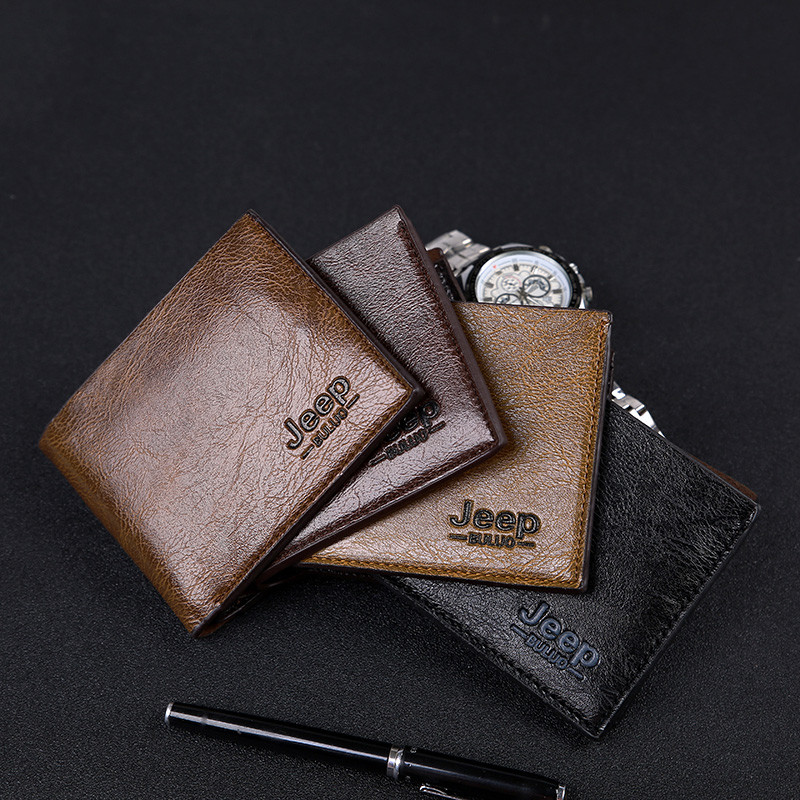 wholesale best selling 2019 new short style pu leather men's <strong>wallet</strong> , coin purses for man