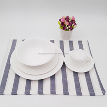 Good quality cheap fashionable 20pcs microwave white ceramic dinnerware sets