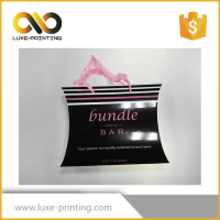 Good quality pillow box packaging/ hair extension with handle/ custom print pillow box
