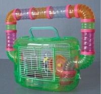 Green Plastic Hamster Cage With Tunnel On Top