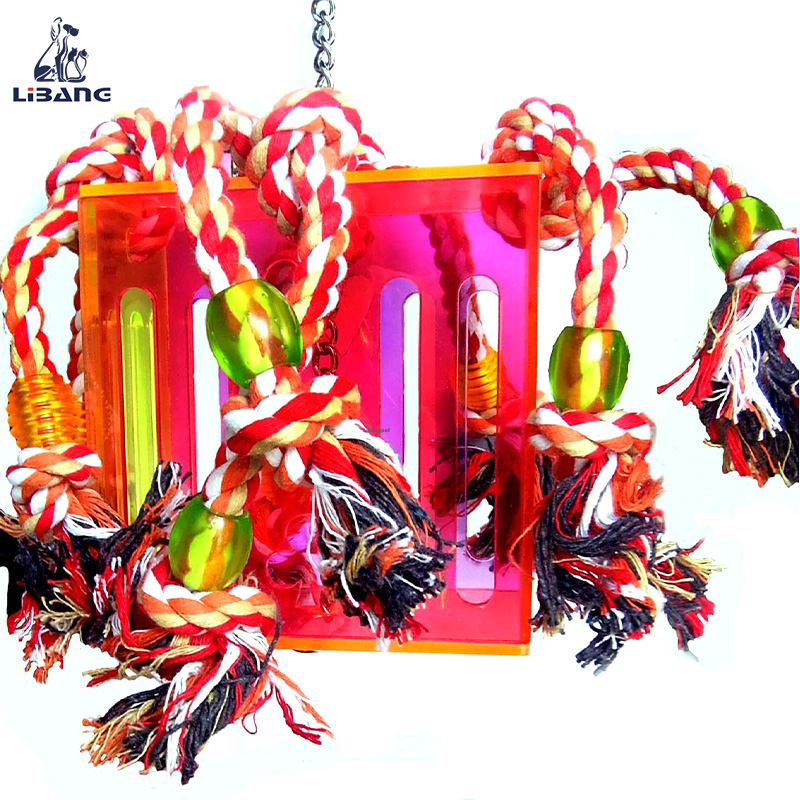 Bird Chewing Cotton Rope Acrylic Parrot Brand Toys
