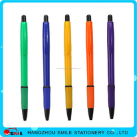 Best Selling cheap brands manufacturer soft grip click ball pen clip