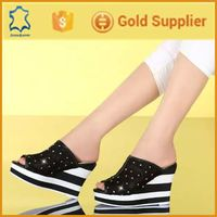 Beautiful black lace platform beech sandal shoes for women