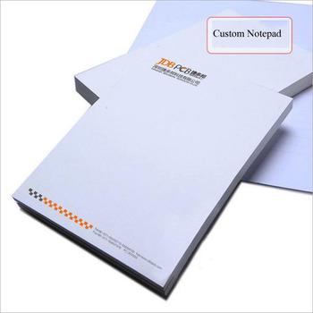 Wholesale A4 A5 company memo pad Cheap custom notepad school student writing pad