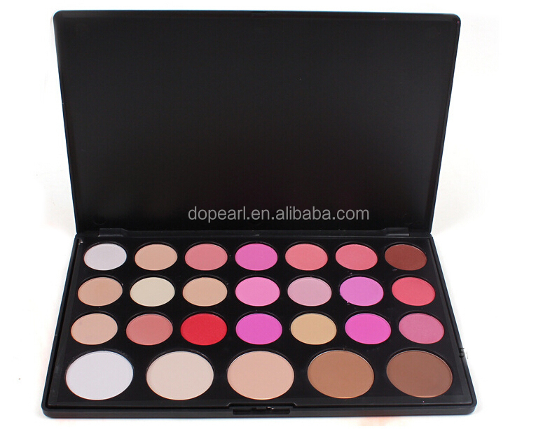 No logo 26 color blusher concealer makeup blush palette