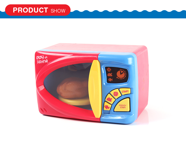 High simulation musical lighting mini kitchen microwave toy with food toys set