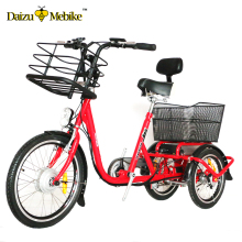 "EN15194 20"" adult 3 wheel mobility electric tricycle china cargo trike moped electric bicycle"