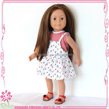 Custom doll with out fit wholesale vinyl doll heads cute doll for kids