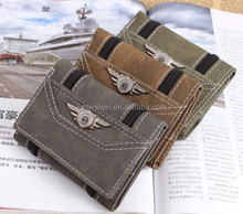 New cheap Canvas Men Fashion and casual pu magical wallet