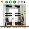 classical polyester black and white striped sheer curtain