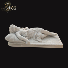 Customized black stone weeping angel weeping angel monuments and tombstone