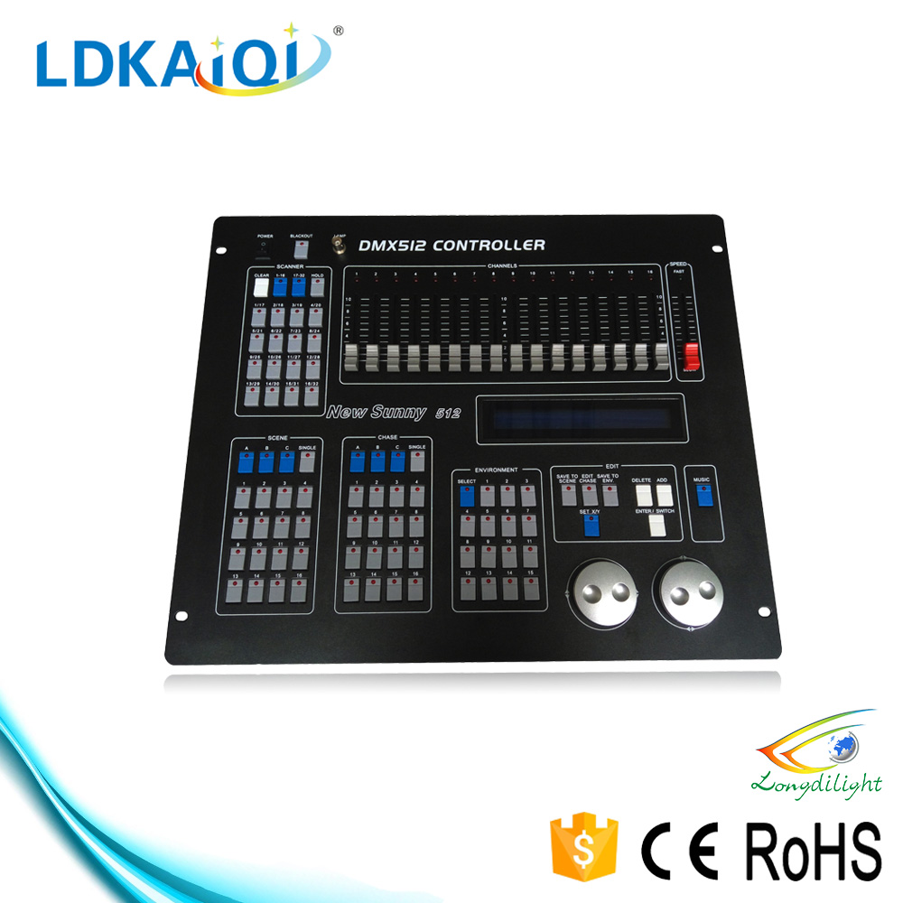 programmable dmx led light console Sunny 512 stage light mixer dj pro lighting controller