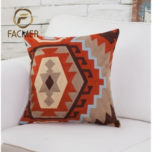 2018 hot bohemian style warm irregular geometric embroidery cushion covers for home decor
