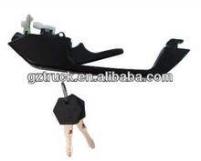excellent quality truck parts door handle with key for scania truck 1306976/356086 RH 1306975/356085 LH