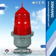 custome logo cheap reusable double aviation obstruction light for bridge tower