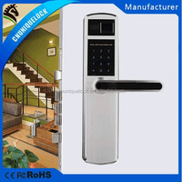 9209# 304 high quality modern style fingerprint door lock with touch screen keypad