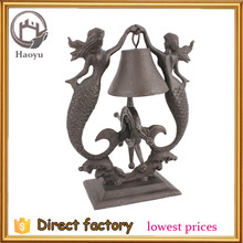 cast iron mermaid shaped table dinner bells