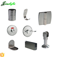 Fire resistant 304 stainless steel door handles and locks toilet cubicle hardware