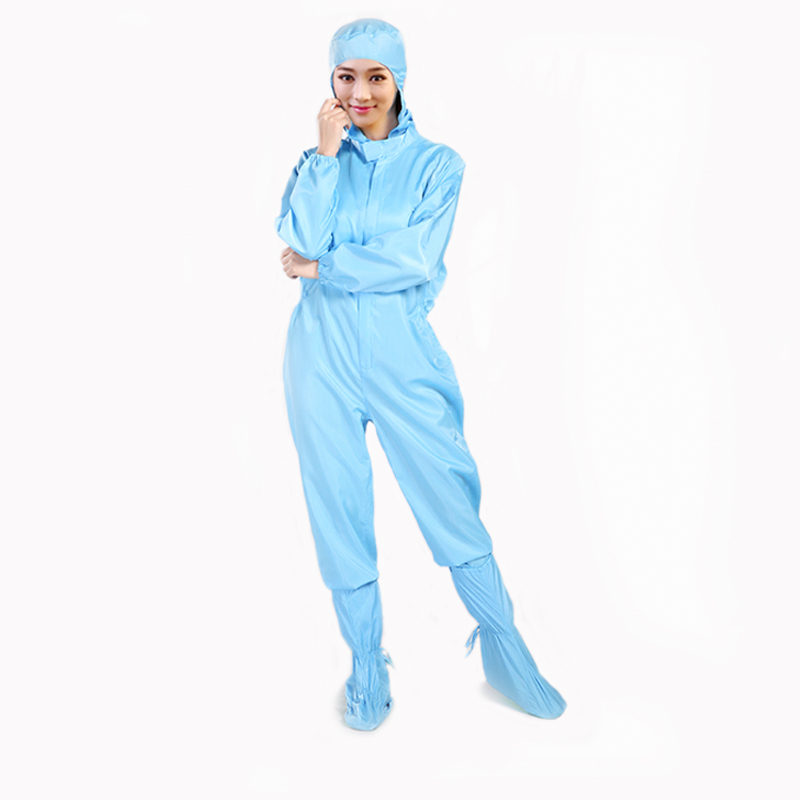 Professional supplier ESD cleanroom apparels , anti static suit protective clean room esd clothing with high quality