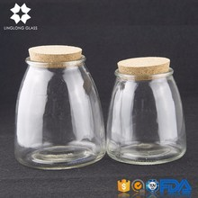 Hot selling mini coffee milk glass bottle with cork