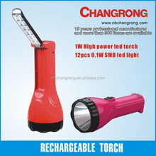 Rechargeable torch led flashlight super bright night light with battery