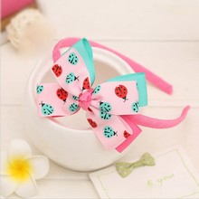 Hot-sales double color collar rib take bowknot baby girl <strong>hair</strong> <strong>accessories</strong>