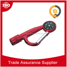 EDL66 6A Time Delivery colorful carabiner flashlight led flashlights keychain lights, metal carabiner flashlight
